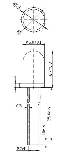 红外发射管(红外线灯管)可广泛用于红外摄像机,音频输出等红外引用